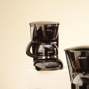 Single Cup Coffee Maker Kmart : Black 4-Cup Coffee Maker: Recharge with Mr. Coffee and Kmart