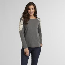 Route 66 Women's Crochet-Shoulder Sweater at Kmart.com
