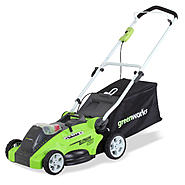 "Greenworks 25322 G-MAX 40V Cordless 16"" Mower-40V 4 AH Li-Ion Battery Inc. en Sears.com"