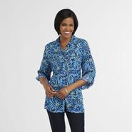 Laura Scott Women's Crepon Tunic - Paisley at Sears.com