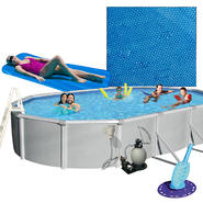 18' X 33' Oval Above Ground Pool, Solar Cover, Cleaner and Pool Toy Bundle at Sears.com