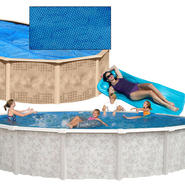 24ft. Round Above Ground Pool, Solar Cover and Pool Toy Bundle at Sears.com