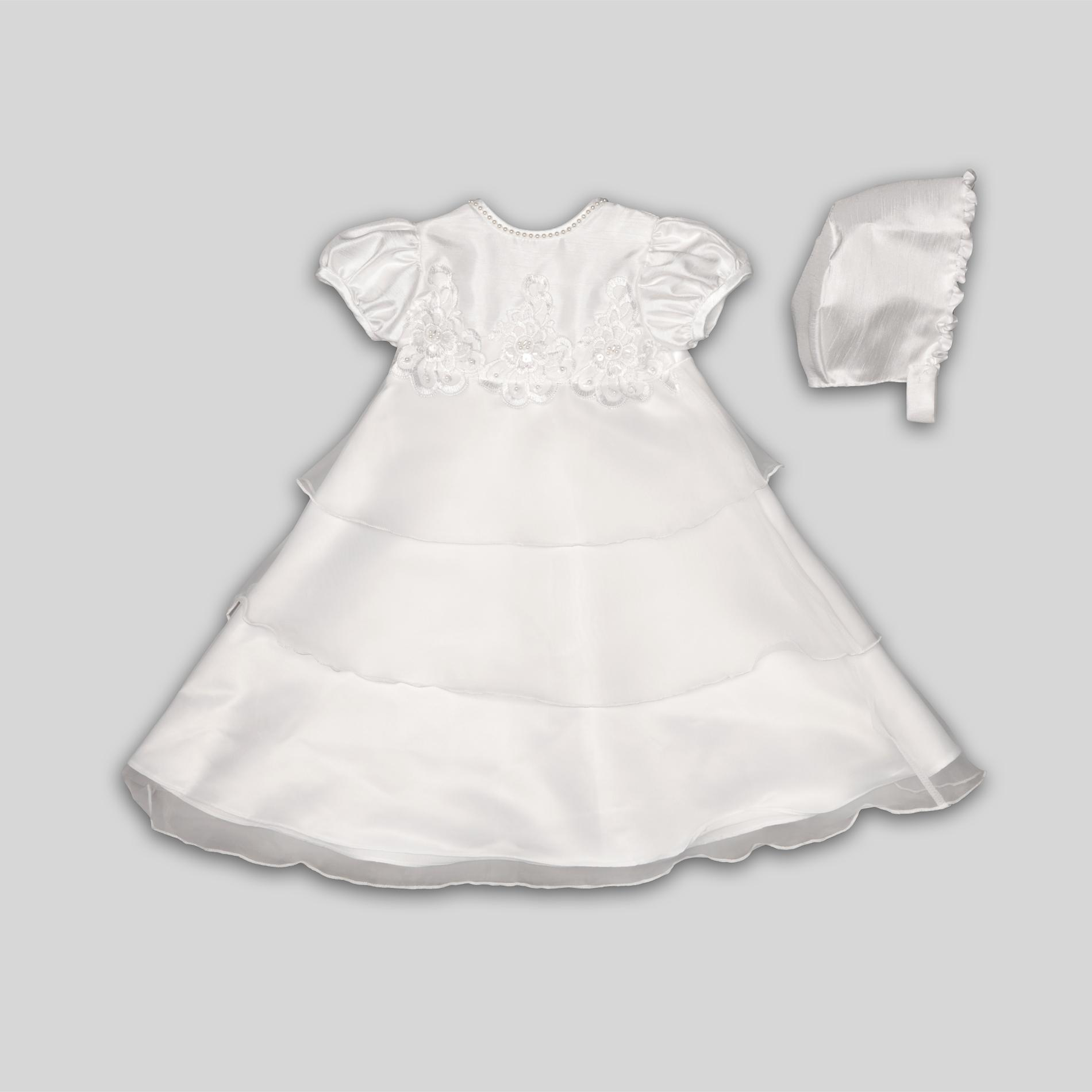 Infant Girl's Christening Dress & Bonnet