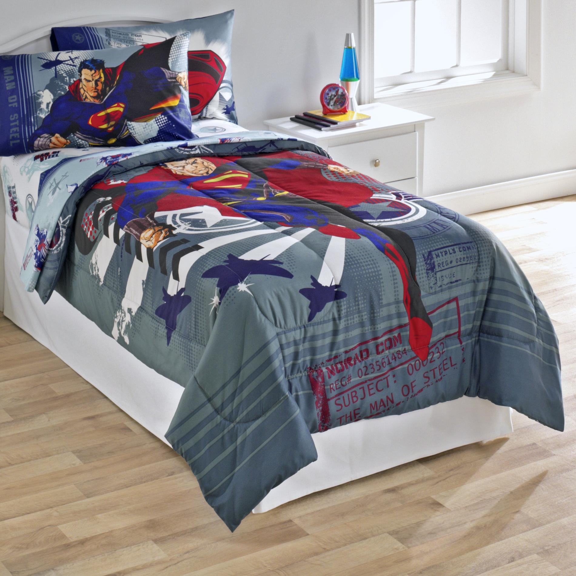 Dc Comics Superman Man Of Steel Twin Comforter
