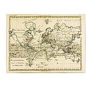 Trademark Fine Art Charles Bonne 'Mercator Map of the World' Canvas Art at Sears.com