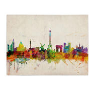 Trademark Fine Art Michael Tompsett 'Paris Skyline' Canvas Art at Sears.com