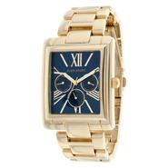 Elgin Ladies' Gold-tone Multi Function Bracelet Watch w/ Rectangle Blue Dial at Kmart.com