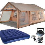 Northwest Territory Front Porch Tent - 18' x 12' with Queen Size Air Bed & Lantern Bundle at Kmart.com