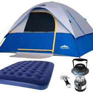 Northwest Territory Silver Dome Tent - 10' X 8' with Queen Air Bed & Lantern Bundle at Kmart.com
