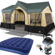 Northwest Territory Canyon Lake Cottage Tent - 14' x 10' with Full Size Air Bed & Lantern Bundle at Kmart.com