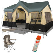 Northwest Territory Canyon Lake Cottage Tent - 14' x 10' with Mesh Chair & Insect Repellent Bundle at Kmart.com