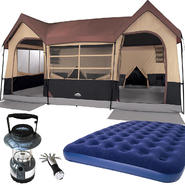 Northwest Territory Big Sky Lodge Tent - 16' x 11' with Queen Size Air Bed & Lantern Bundle at Kmart.com