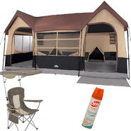 Northwest Territory Big Sky Lodge Tent - 16' x 11' with Mesh Chair & Insect Repellent Bundle at Kmart.com