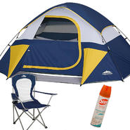 Northwest Territory Sierra Dome Tent with Mesh Chair & Insect Repellent Bundle at Kmart.com