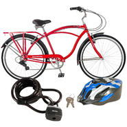 Schwinn Men's Bike with Helmet & Lock Bundle         ...