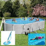 Samoan Above Ground Oval Pool Package,Vacuum and Inflatable Bundle at Kmart.com