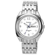 Armitron Men's Silver-tone Link Bracelet Watch w/ white Dial Day-Date at Kmart.com