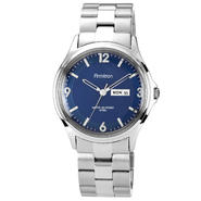Armitron Men's Silver-tone Link Bracelet Watch w/ Blue Dial Day-Date at Kmart.com
