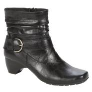 I Love Comfort Women's Ida Ankle Black Faux-leather Booties at Kmart.com