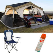 Northwest Territory Mountain Lodge Tent - 16' x 16' with Chair & Insect Repellent Bundle at Kmart.com