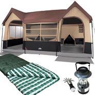 Northwest Territory Big Sky Lodge Tent - 16' x 11' with XL Oversized Sleeping Bag & Lantern Bundle at Kmart.com