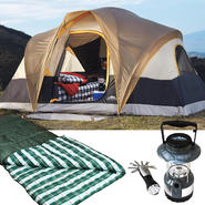 Northwoods 6-person tent with XL Oversized Sleeping B...