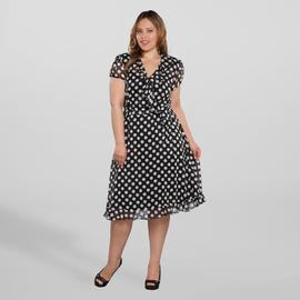 JBS Women's Plus Chiffon Dress - Polka Dot at Sears.com