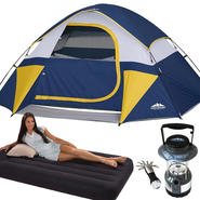 Northwest Territory Sierra Dome Tent � with Twin Air Mattress & LED Lantern Bundle at Sears.com