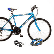 Titan Pioneer Mens All Terrain Mountain Bike with Helmet & Lock Bundle at Kmart.com