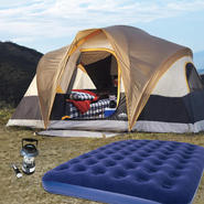 Northwest Territory Northwoods 6-person tent with Queen Size Air Bed & Lantern Bundle at Kmart.com