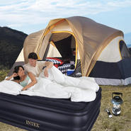 Northwest Territory Northwoods 6-person tent with Raised Queen Size Bed & Lantern Bundle at Kmart.com