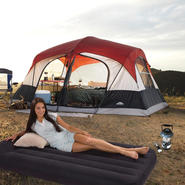 Northwest Territory Family Cabin - 8 person tent with Twin Air Bed & Lantern Bundle at Kmart.com