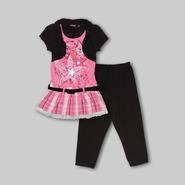 Tempted Apparel Girl's Tunic, Leggings & Belt - Stars at Sears.com