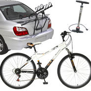 Piranha Trailclimber Mountain Bike with Car Rack & Floor Pump Bundle at Kmart.com