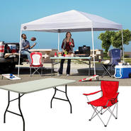 E-Z Up Sierra II Canopy with Folding Table & Chair Bundle at Sears.com