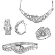 4-Piece Diamond Necklace, Ring, Bracelet & Earrings Set at Sears.com