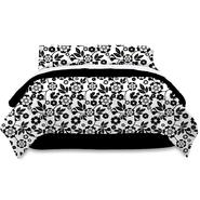 Metro Luxe Black and White Floral Bed Ensemble at Kmart.com