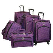 American Flyer Plaid collection 5-Pcs Luggage set in Purple at Sears.com