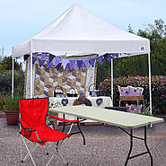 Express II 10x10 Commercial Canopy with Folding Table & Chair Bundle at Sears.com