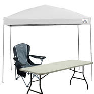 Sportcraft 10x10 Straight Leg Instant Canopy with Folding Table & Chair Bundle at Sears.com