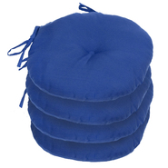 "Greendale Home Fashions 15"" Round Outdoor Bistro Chair Cushion, Set of Four, Marine Blue at Sears.com"