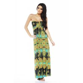 AX Paris Women's Strapless New Paisley Green Maxi Dress - Online Exclusive at Kmart.com