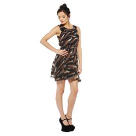 AX Paris Women's Animal Feather Print Chiffon Sleeveless Dress - Online Exclusive at Kmart.com