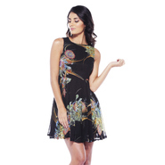 AX Paris Women's Digital Floral Chiffon Skater Dress - Online Exclusive at Kmart.com