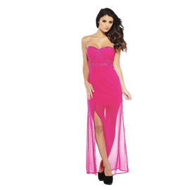 AX Paris Women's Strapless Chiffon Jewel Raspberry Maxi - Online Exclusive at Kmart.com
