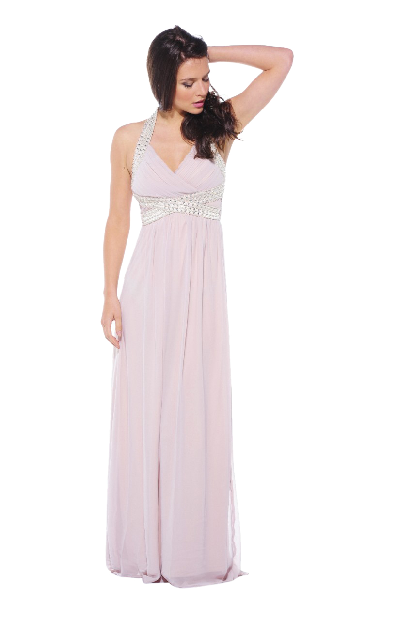 AX Paris Women's Halter Neck Embellished Maxi Stone Dress - Online Exclusive at Kmart.com