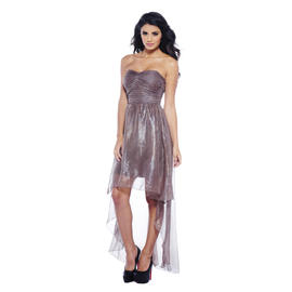 AX Paris Women's Metallic Chiffon Strapless Dress - Online Exclusive at Sears.com