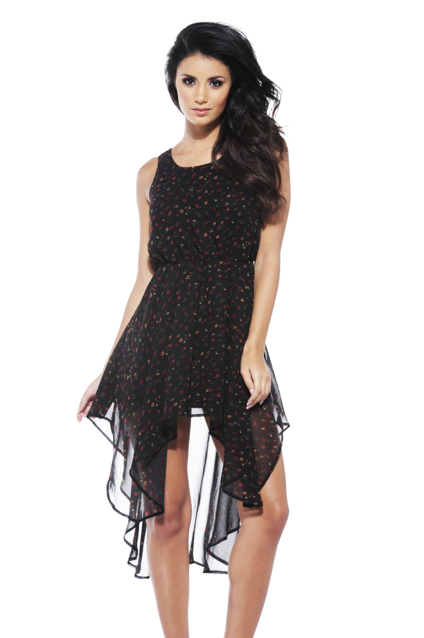 Women's Floral Chiffon Drop Back Dress - Online Exclusive