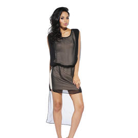 AX Paris Women's Chiffon Over Lay Drop Back Dress - Online Exclusive at Sears.com