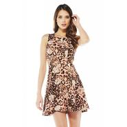 AX Paris Women's Leopard Print Skater Dress - Online Exclusive at Kmart.com